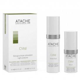 Биологична тройна антиоксидантна защита комплект ATACHE C Vital Serum 15ml + Fluid 30ml