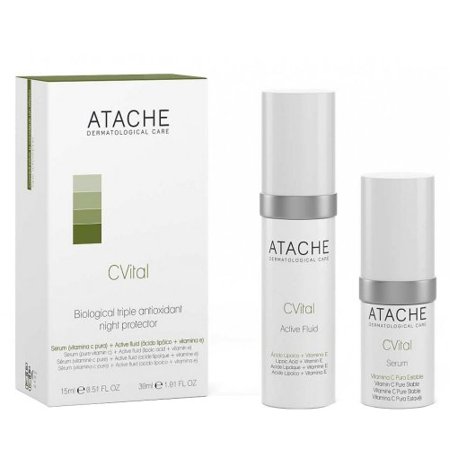 Биологична тройна антиоксидантна защита / ATACHE C Vital Serum 30мл.