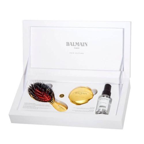 Премиум комплект със златна мини четка Balmain Golden Spa Brush Mini