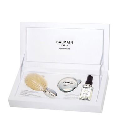 Премиум комплект със сребърна мини четка Balmain Silver Spa Brush Mini