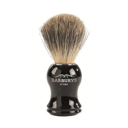 Четка за бръснене с естествен косъм от язовец BARBURYS GREY - Silhouette