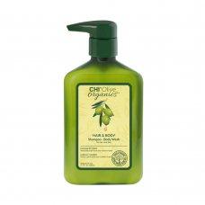 Органичен шампоан за коса и тяло с маслиново масло Chi Organic olive 340ml