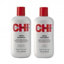 Подхранващ комплект шампоан и балсам / CHI Infra