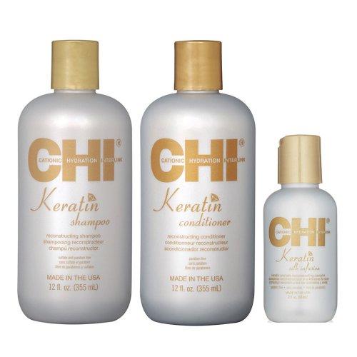 Кератинов комплект за изтощена коса CHI Keratin