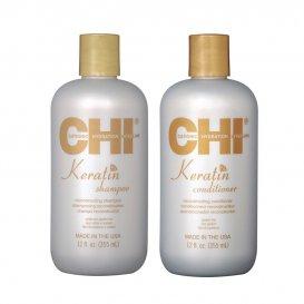 Кератинов комплект за третирана коса / CHI Keratin
