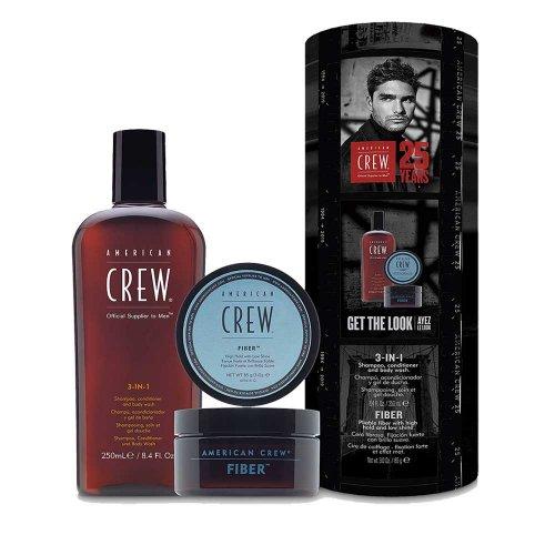 Комплект за мъже Шампоан и помада за коса American Crew 3-in-1 Shampoo & Fiber Kit