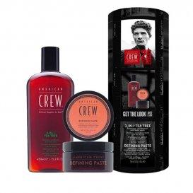 Комплект за мъже Шампоан и стилизираща паста American Crew Tea Tree & Definition Paste Kit