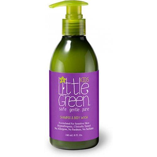 Шампоан и душ гел за деца/ Little Green Kids Shampoo and Body Wash 240мл.