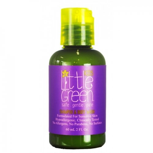 Шампоан и душ гел за деца/ Little Green Kids Shampoo and Body Wash 60мл.