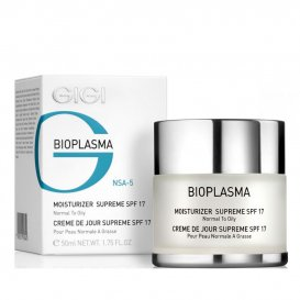 Овлажняващ крем за мазна кожа GIGI Bioplasma Moisturizer Supreme SPF 17 Normal to Oily Skin  50ml
