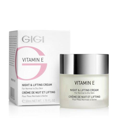 Високо ефективна антиоксидантна серия / VITAMIN E LINE - Нощен крем за лифтинг и масаж  / Vit E NIGHTand LIFTING CREAM 50ml.