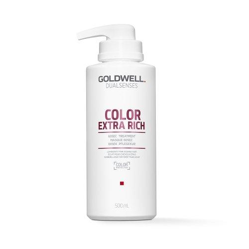 Хидратираща 60 секундна маска за боядисана и изтощена коса - Color Extra Rich 60sec Treatment 500ml