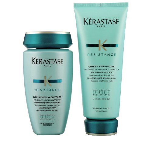 Комплект шампоан и балсам за реконструиране на косата - Kerastase Force Resistance