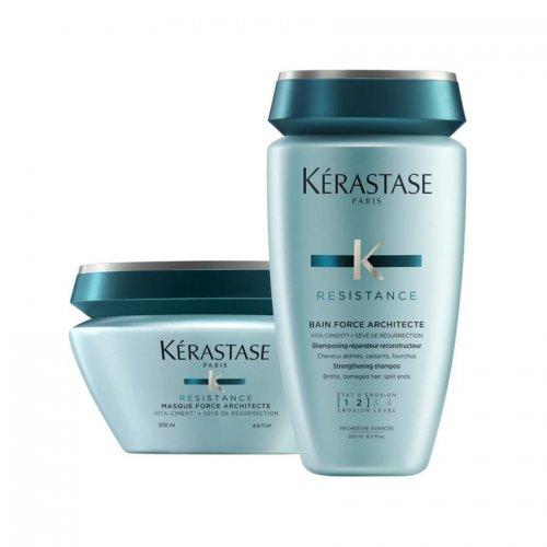 Комплект шампоан и маска за реконструиране на косата Kerastase Force Resistance
