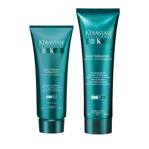 Комплект за силно изтощена коса шампоан и балсам Kerastase Resistance Therapiste