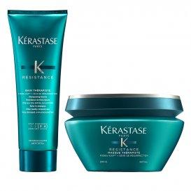 Комплект за силно изтощена коса шампоан и маска - Kerastase Resistance Therapiste