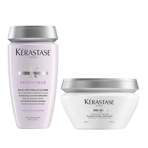 Комплект за коса Шампоан против пърхот и Успокояваща маска Kerastase Specifique