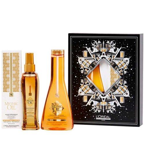 Коледен комплект за плътна коса Loreal Mythic oil