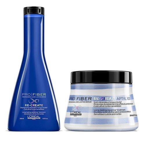 Възстановяващ шампоан и маска за тънка коса  Loreal Pro Fiber Re-create