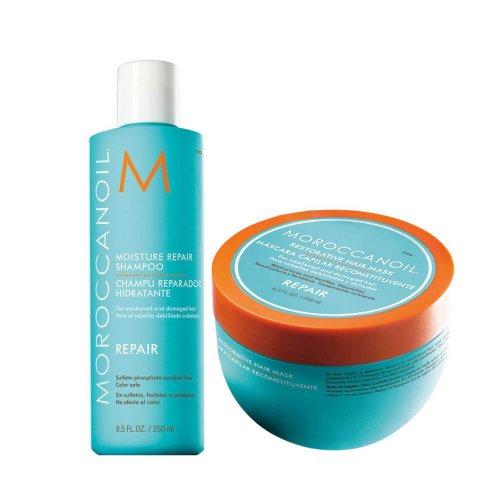Комплект шампоан и маска за изтощена коса Moroccanoil Repair Set
