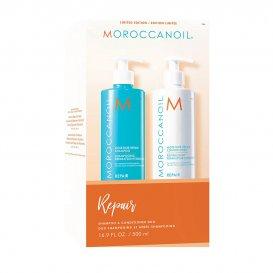 Комплект Шампоан и Балсам за изтощена коса Moroccanoil Repair 2х500мл
