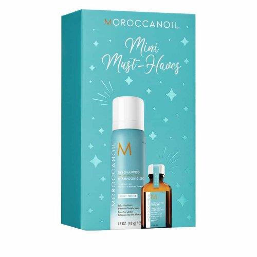 Комплект за руса коса Сух шампоан и Арганово олио Moroccanoil Light Kit