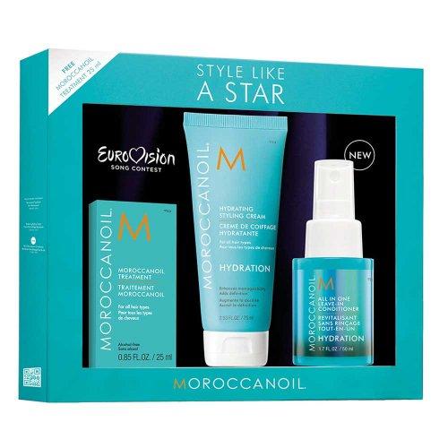 Комплект за суха коса с подарък Moroccanoil Style Like a Star Hyration
