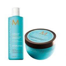 Хидратиращ комплект шампоан и маска за плътна коса Moroccanoil Hydrating Set