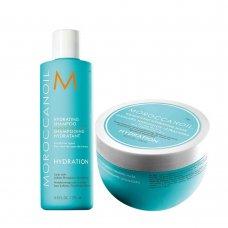 Хидратиращ комплект шампоан и маска за тънка коса Moroccanoil Weightless Hydrating