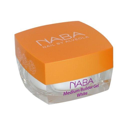 Изграждащи гелове - Изграждащ гел/ Medium Builder Gel White Naba