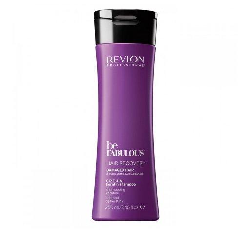 Възстановяваща терапия/Revlon Be Fabulous Hair Recovery - Шампоан за  възстановяване и блясък на увредена коса/ Recovery C.R.E.A.M. Keratin Shampoo 250ml