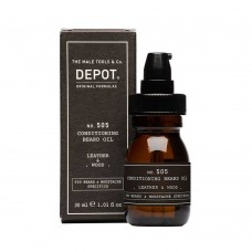 Луксозно масло за брада Depot 505 Conditioning Bread Oil leather & wood 30ml