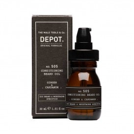 Луксозно масло за брада Depot 505 Conditioning Bread Oil ginger & cardamom 30ml