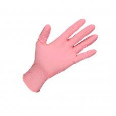 Ръкавици нитрил розови 100 бр