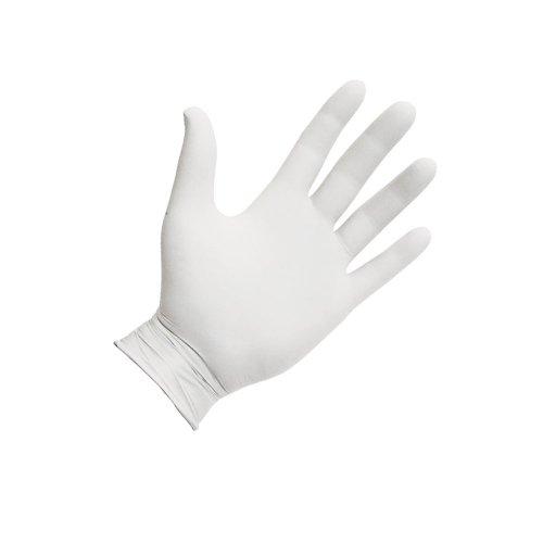 Ръкавици нитрил бели 100 бр