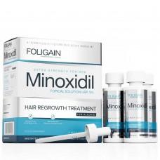 Терапия против косопад за мъже с Миноксидил 5% Foligain Hair Regrowth Treatment 3x60ml