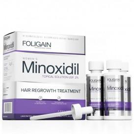 Терапия против косопад за жени Foligain 2% Minoxidil Topical Solution USP 3x60ml