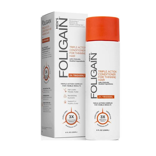 Стимулиращ балсам за оредяла коса за мъже с Trioxidil 2% Foligain Triple Action Conditioner 236ml