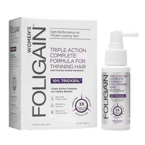 Възстановяваща терапия за оредяла и късаща се коса за жени 10% Trioxidil Foligain Triple Action 59ml