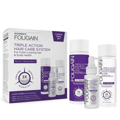 Терапия против косопад за жени Foligain Triple Action Hair Care System