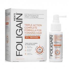 Възстановяваща терапия за оредяла и изтъняла коса за мъже с Trioxidil 10%  Foligain Hair Regrowth Treatment For Men 59ml