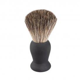 Четка за бръснене с естествен косъм черна