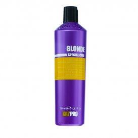 Сапфирен шампоан за неутрализиране на жълтите оттенъци KAYPRO Blonde Shampoo 350ml