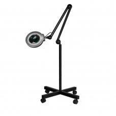 Лампа лупа 5 диоптера черна