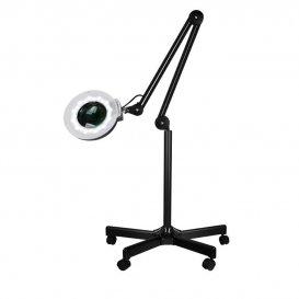 LED Лампа лупа  на стойка Черна