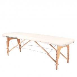 Преносима дървена масажна кушетка бежова KOMFORT 2