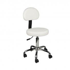 Козметичен стол с облегалка AM-9934 Бял