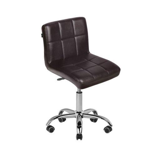 Козметичен стол с облегалка кафяв