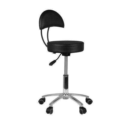 Козметичен стол с облегалка черен AM-309