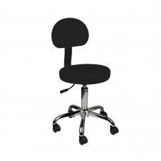 Козметичен стол с облегалка черен AM-9934